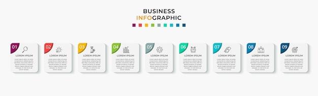 비즈니스 infographic 단계 템플릿