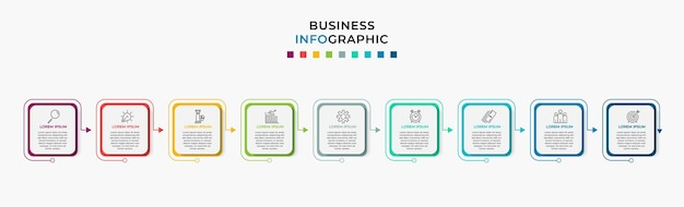 Business infographic step template