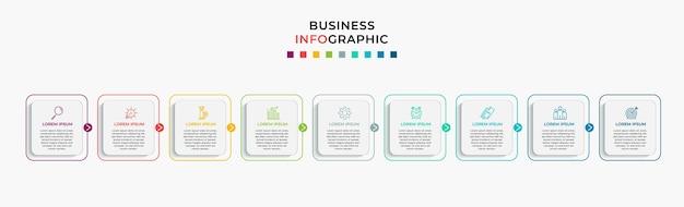 ビジネスインフォグラフィックステップテンプレート