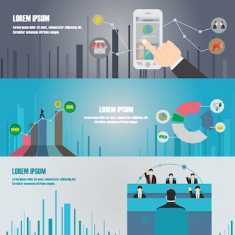 Business infographic step