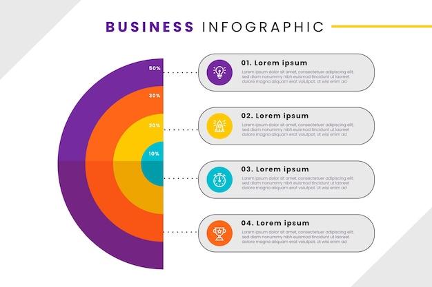 비즈니스 infographic 스타일