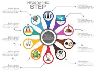 Шаблон бизнес инфографики. Визуализация данных.