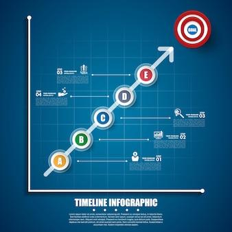 ビジネスインフォグラフィックテンプレート。データの視覚化