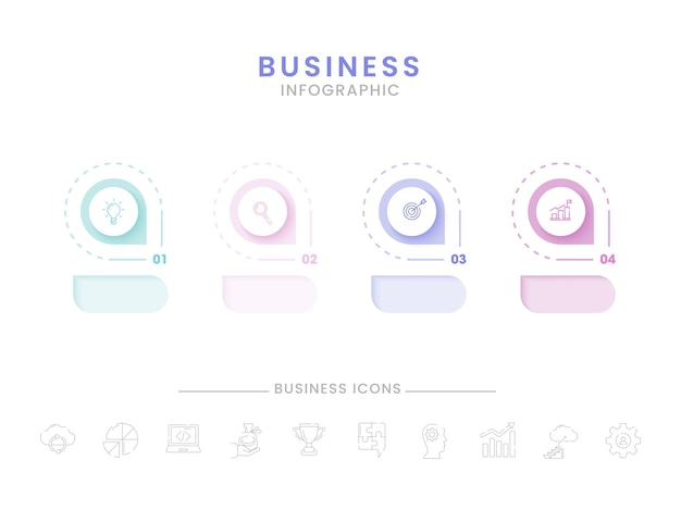 Дизайн шаблона бизнес-инфографики