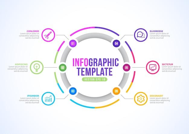 ビジネスインフォグラフィックテンプレートデザイン。