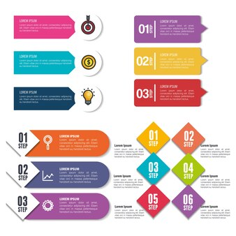 비즈니스 infographic 템플릿 아이콘