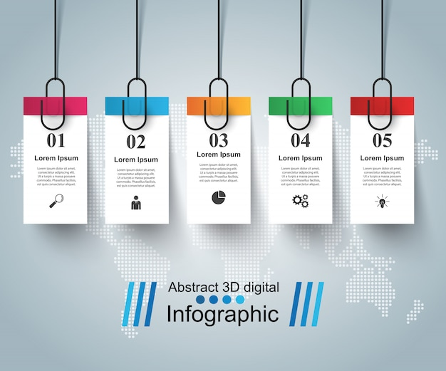 Business infographic template origami style vector illustration