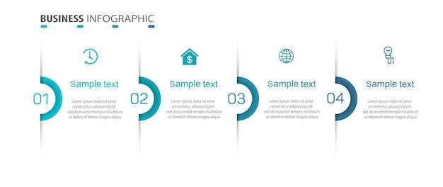 4가지 옵션이 있는 비즈니스 인포그래픽 템플릿