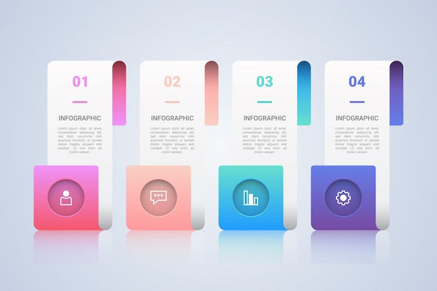 Business infographic  template with 4 step labels