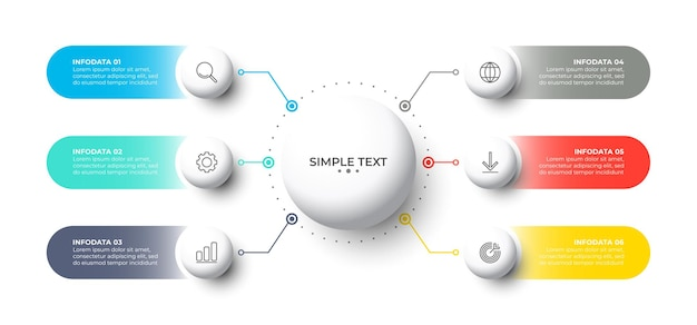 Шаблон бизнес-инфографики с кругом