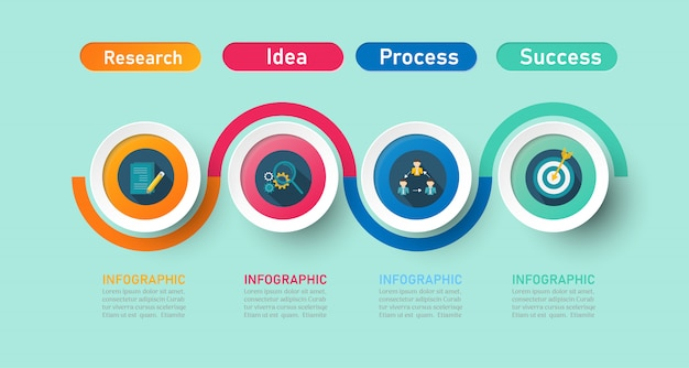 Business infographic template with options