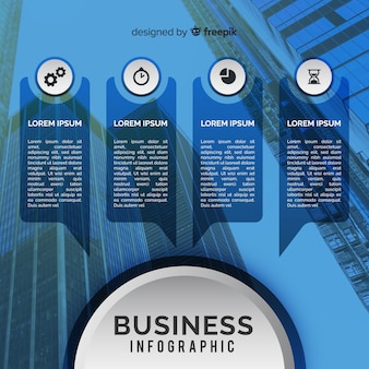 Business infographic template with photo