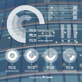 Бизнес инфографики шаблон с фото
