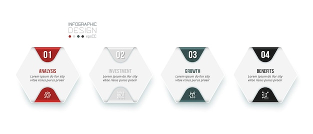 Business infographic  template with step or option design
