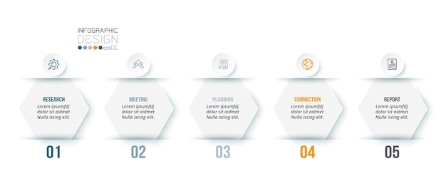 Business infographic  template with step or option design.