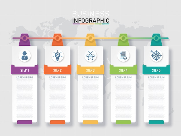 Шаблон бизнес инфографики. Premium векторы