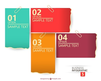 Business infographic with different sheets of paper