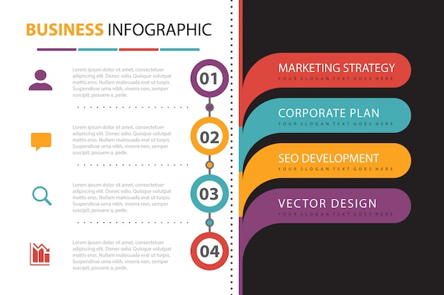 Business infographic with element presentation