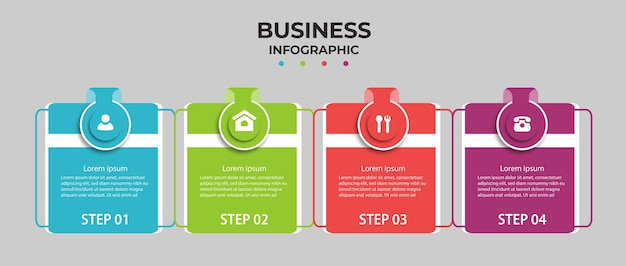 Business infographic with four options