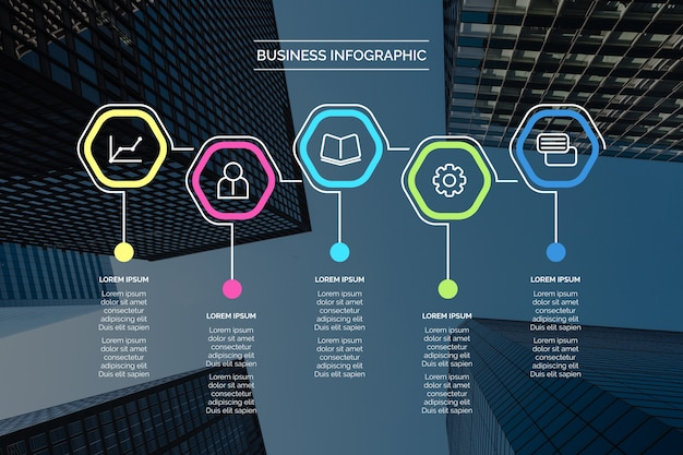 Business infographic with image