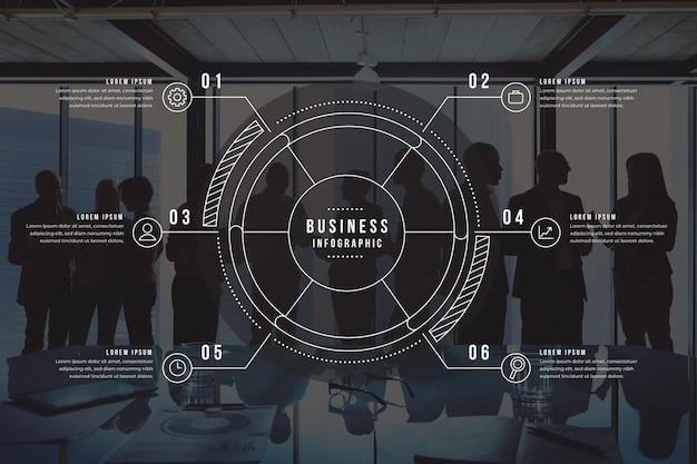 写真と詳細ビジネスインフォグラフィック