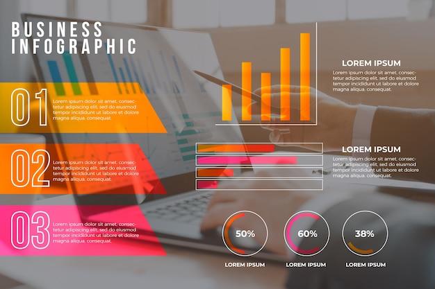 사진이있는 비즈니스 인포 그래픽