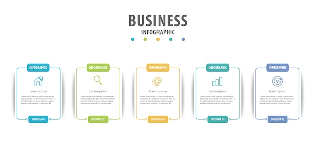 Business infographic with several options