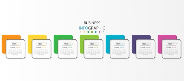 Business infographic with  steps or options