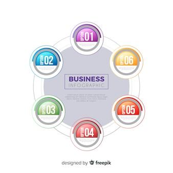 ビジネスのインフォグラフィック 無料ベクター