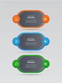 비즈니스 인포 그래픽 배너 디자인