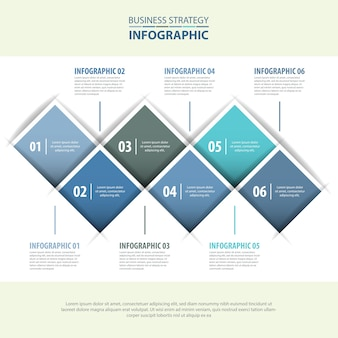 Business infographics design template blue grey color tone