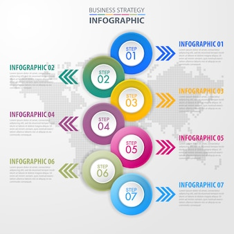 Business infographics design template illustration. vector eps10.