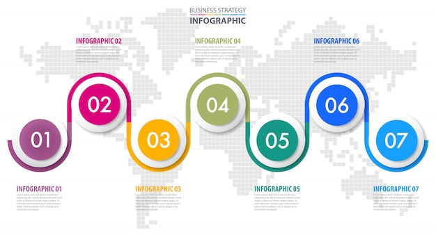 Business infographics design template illustration.