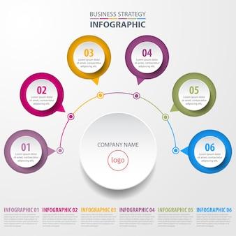 Business infographics design template illustration