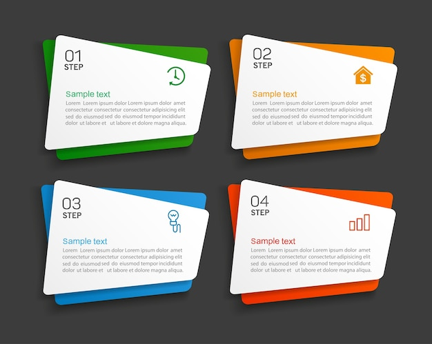 Business infographics design   template with  options