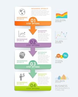 Business infographics design template