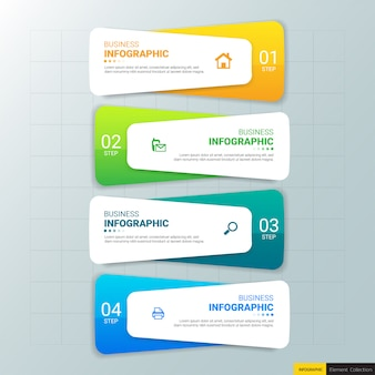 Business infographics design template.