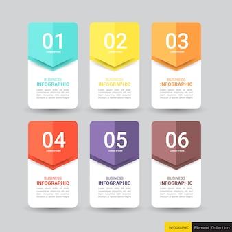 ビジネスインフォグラフィックデザインテンプレート。