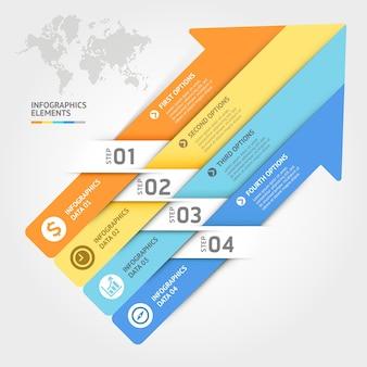 ビジネスインフォグラフィック要素テンプレート。