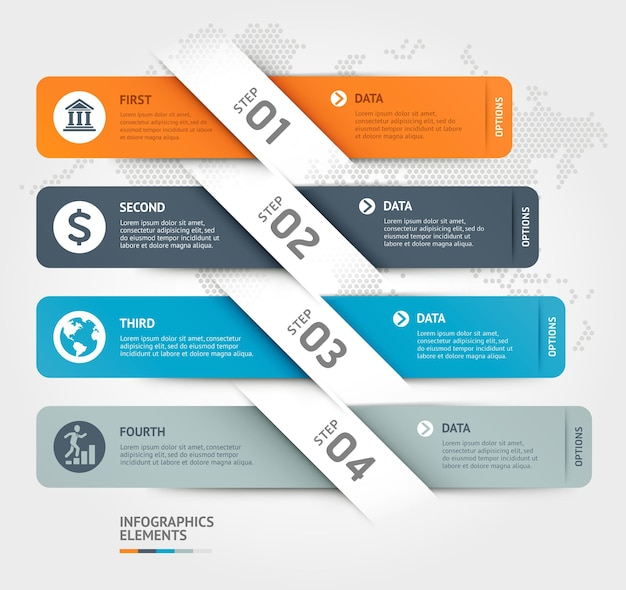 Business infographics elements template