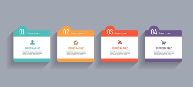 Business infographics elements template.