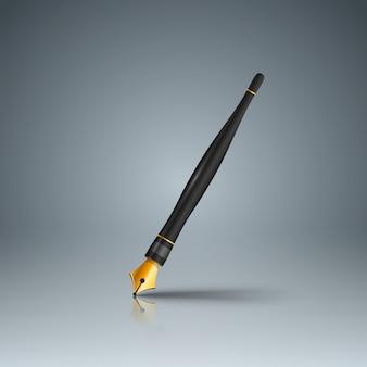 ビジネスインフォグラフィックス。フェザーペンのインク