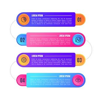 Бизнес инфографика градиент с текстом