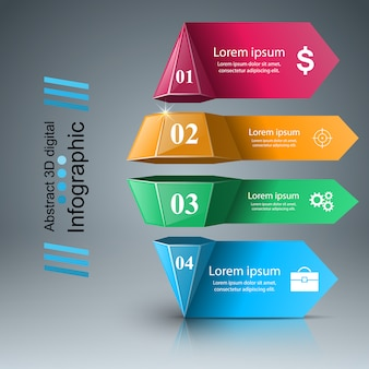 Business infographics origami style  illustration