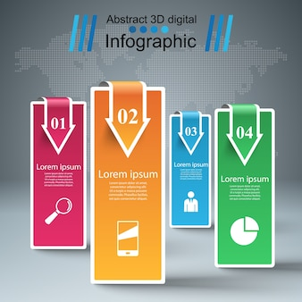Business Infographics origami style Vector illustration.