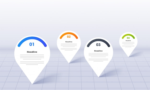 Business infographics for powerpoint with map location pins template