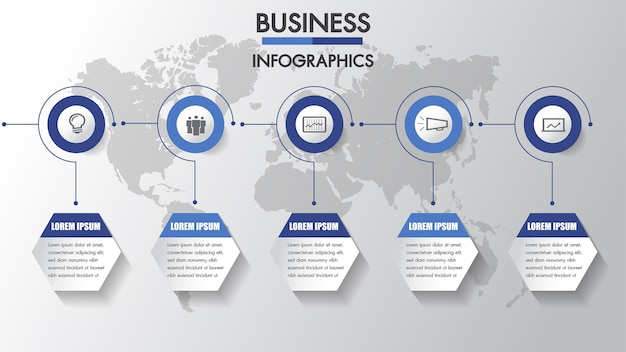 Business infographics process.
