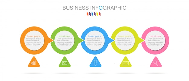 Business infographics template the concept 5 full color option