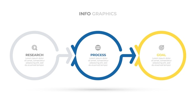 Business infographics template creative design elements with circle and arrow vector illustration