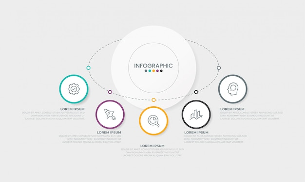 Business infographics template infographic presentation concept